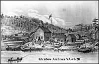Red River expedition at Shebaunining, Ontario.