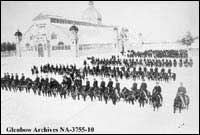 First mounted parade of Lord Strathcona's Horse, Ottawa, Ontario.