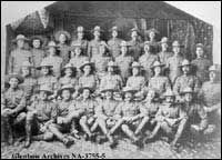 "Moosomin troops and  Number 3 Troop ""A"" Squadron,  Lord Strathcona's Horse, Ottawa, Ontario."