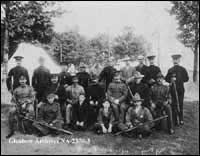 Alberta combined military services rifle team at Ottawa, Ontario.