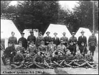 Alberta rifle team at Rockcliffe range, Ottawa, Ontario.