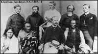 Group photographed during trial after Riel Rebellion.