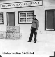 Charles N. Stephen, Hudson's Bay Company employee at Lansdowne House, Ontario.
