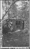 """""""Trapper's cabin in the Soo area"""", [Sault Ste. Marie], Ontario."""